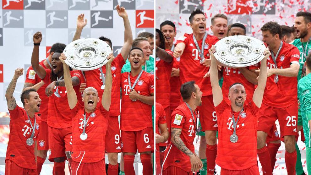 Robben y Ribéry, protagonistas en la fiesta del Bayern