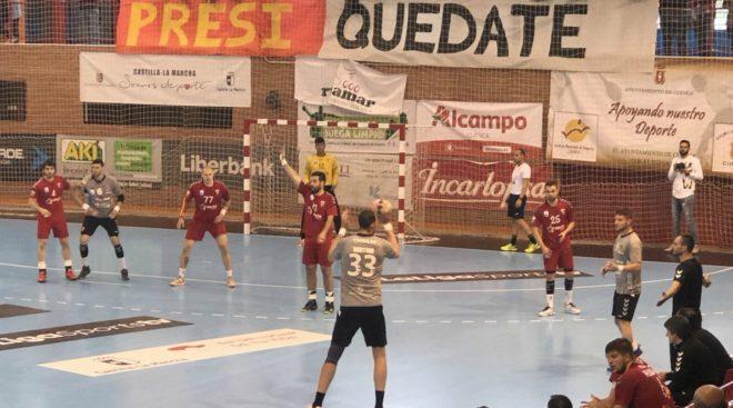 Un momento del partido entre el Cuenca y el Alcobendas /