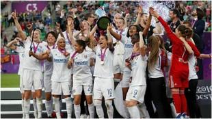 El Lyon, campeón de la Champions femenil ante el Barcelona.