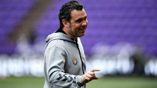 Sergio durante el último partido liguero.