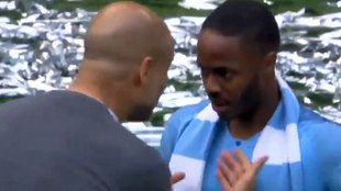 Guardiola and Sterling.