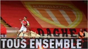 Falcao celebra su gol contra el Amiens.