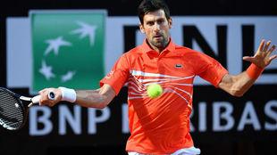Novak Djokovic, durante su partido ante Diego Schwartzman.
