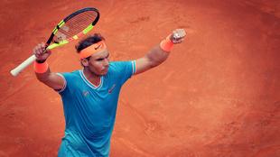 Rafa Nadal celebra la victoria ante Tsitsipas en la semifinal del...
