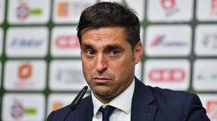 Alonso durante la conferencia de prensa.