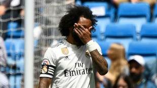 Marcelo, en el partido ante el Betis