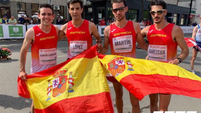 Diego García Carrera, Miguel Ángel López, Álvaro Martín y Alberto...