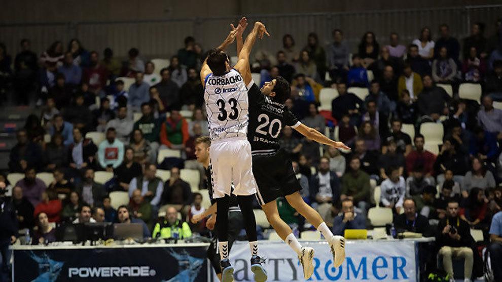 Imagen del último partido entre Obradoiro y Delteco