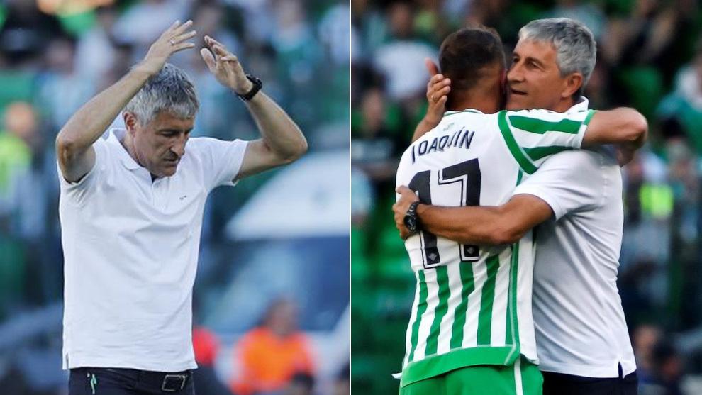 Setién, con Joaquín