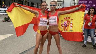 Laura García-Caro y Raquel González, tras la prueba