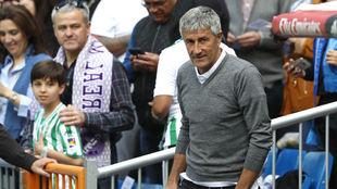 Setién, en el Bernabéu