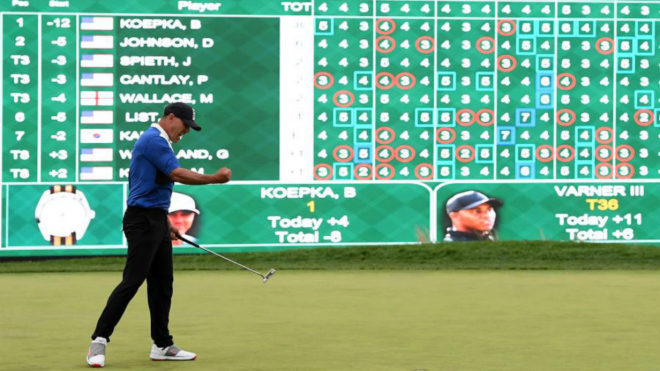 Brooks Koepka celebra la victoria en el PGA
