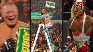 Bayley (campeona femenina de SmackDown al ganar a Charlotte Flair) y...