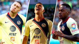 Nico Castillo, Mateus Uribe y Renato Ibarra