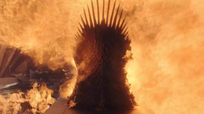 Drogon decide quemar el Trono de Hierro, uno de los símbolos de...