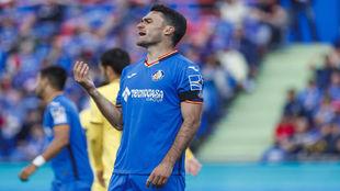 Jorge Molina, en el último partido ante el Villarreal.
