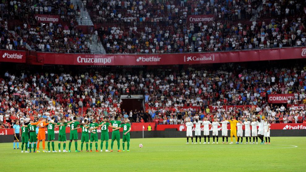 Aspecto del Sánchez-Pizjuán antes del Sevilla-Zalgiris de Europa...