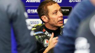 Valentino Rossi, durante el pasado Gran Premio de Francia.