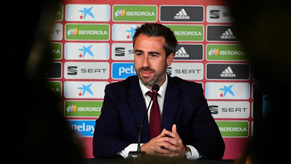 Jorge Vilda en rueda de prensa.