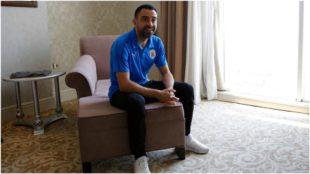 Xavi, durante su entrevista con EFE en Teherán.