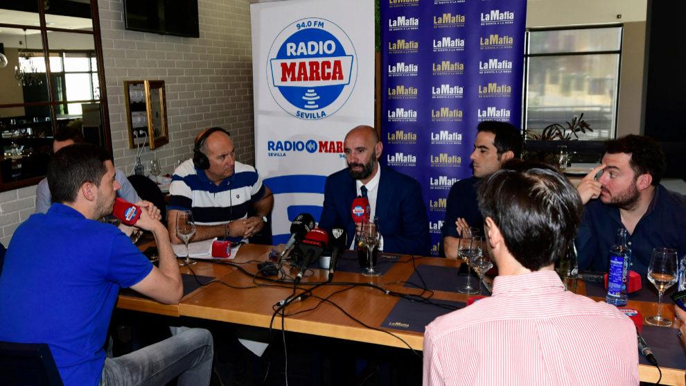 Monchi, en la tertulia de Radio MARCA Sevilla.