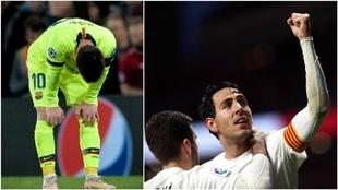 Messi y Parejo.
