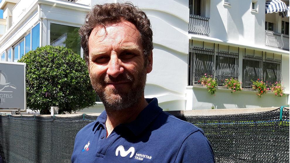 Max Sciandri, director deportivo italiano del Movistar Team.