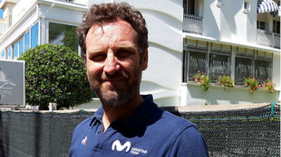 Max Sciandri, director deportivo italiano del Movistar Team.
