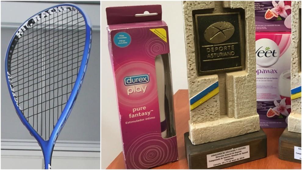 Un vibrador, el regalo que han recibido unas campeonas de squash