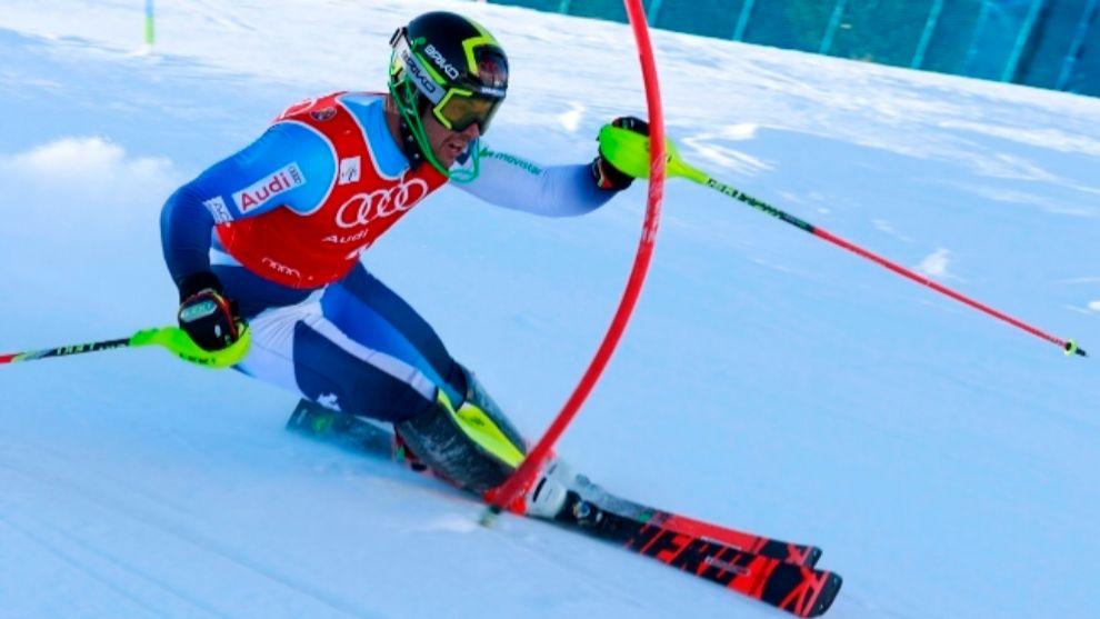 Alex Puente, en slalom, Alex Puente fue el que recorrió más tiempo...