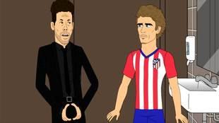 Simeone y Griezmann en el cuarto capítulo de la segunda temporada de...