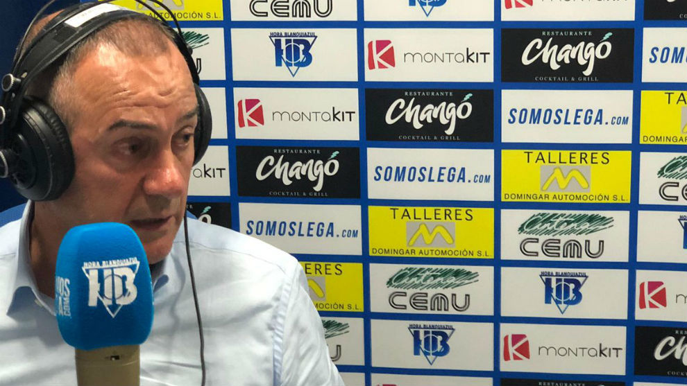 Moreno, durante la entrevista en Hora Blanquiazul.