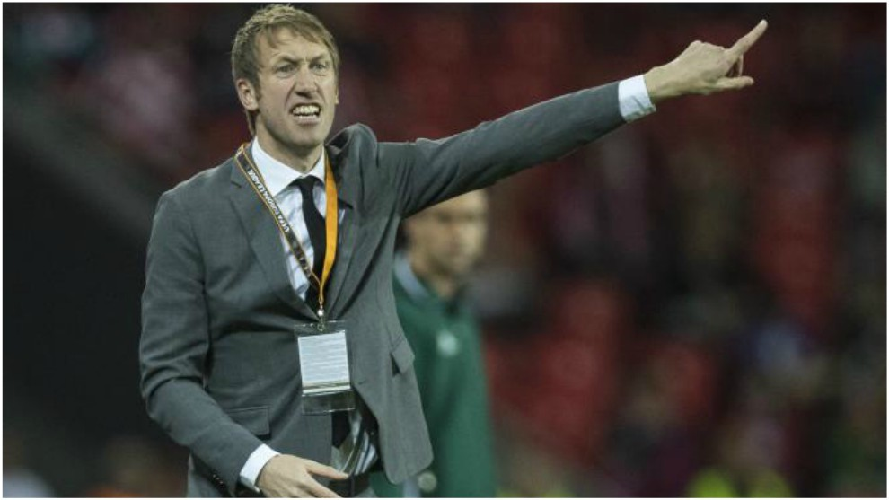 Graham Potter, en un partido de Europa League entre Athletic y...