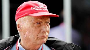 Niki Lauda, ex piloto de Fórmula 1 en mayo de 2019
