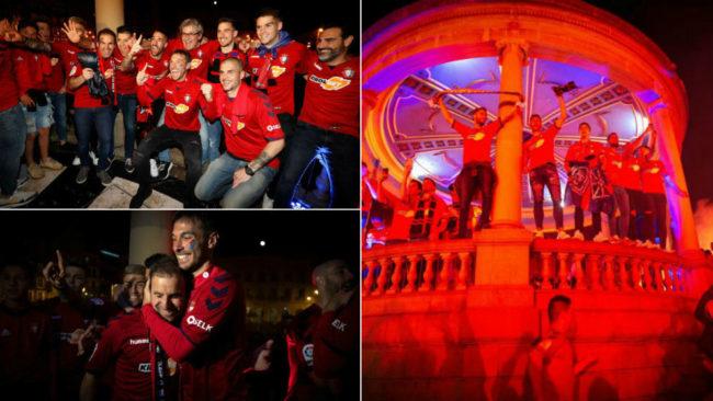 Club Atlético Osasuna ascendió de nuevo Primera división en un día...