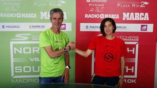 Martín Fiz y Raquelm Gómez, capitanes de los equipos del Norte y el...