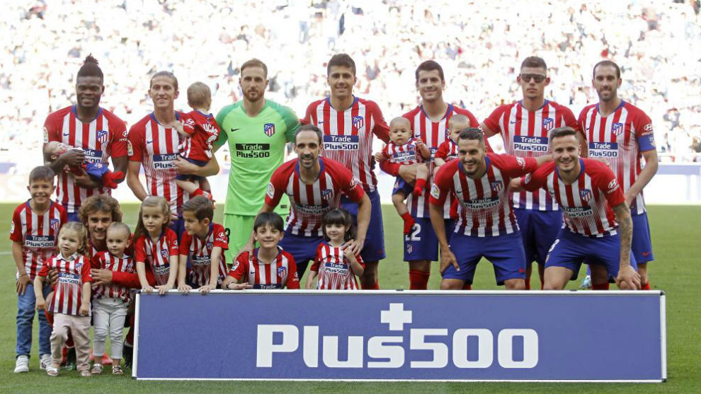 An Atletico Madrid line-up in LaLiga Santander this season.
