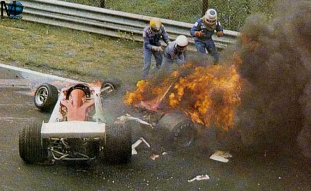 Accidente NIki Lauda de 1076 en NUrburing