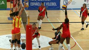Una imagen del segundo amistoso entre España y Perú.