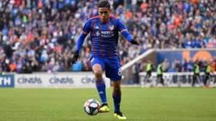 Victor Ulloa durante un partido.