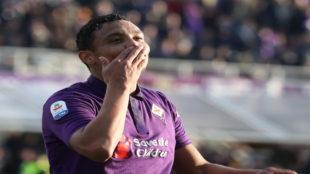 Luis Muriel, en un partido con la Fiorentina.