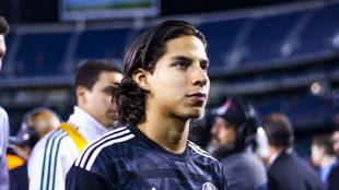 Diego en un partido con la selección mexicana.