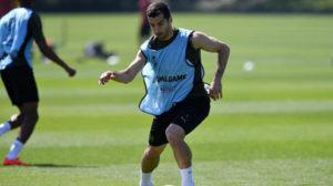 Mkhitaryan, con el Arsenal.