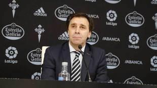 Felipe Miñambres, en una rueda de prensa.