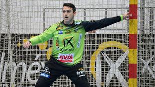 Álvaro de Hita durante un partido con el Puente Genil /