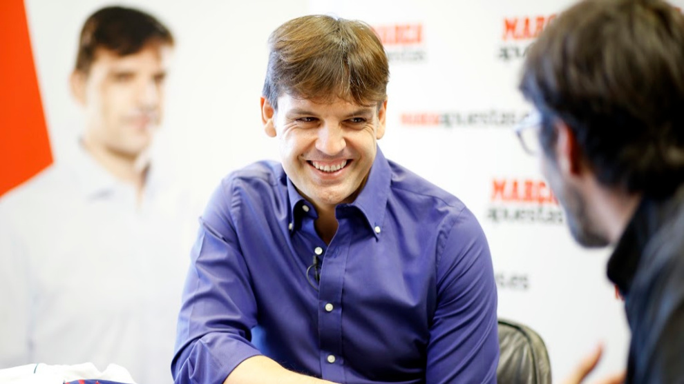 Fernando Morientes during an interview with MARCA.