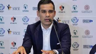 Rafa Márquez durante la presentación de su partido de despedida.