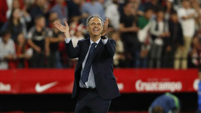 Joaquín Caparrós, tras una victoria esta temporada.