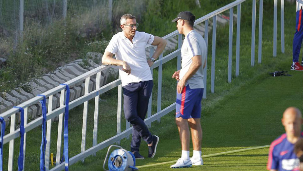 Simeone with Andrea Berta
