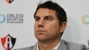 Leandro Cufré en conferencia de prensa.